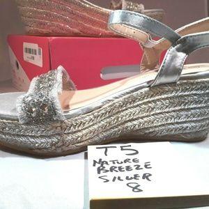 T5 Nature Breeze Womens  Silver Sandal Shoe US Wom